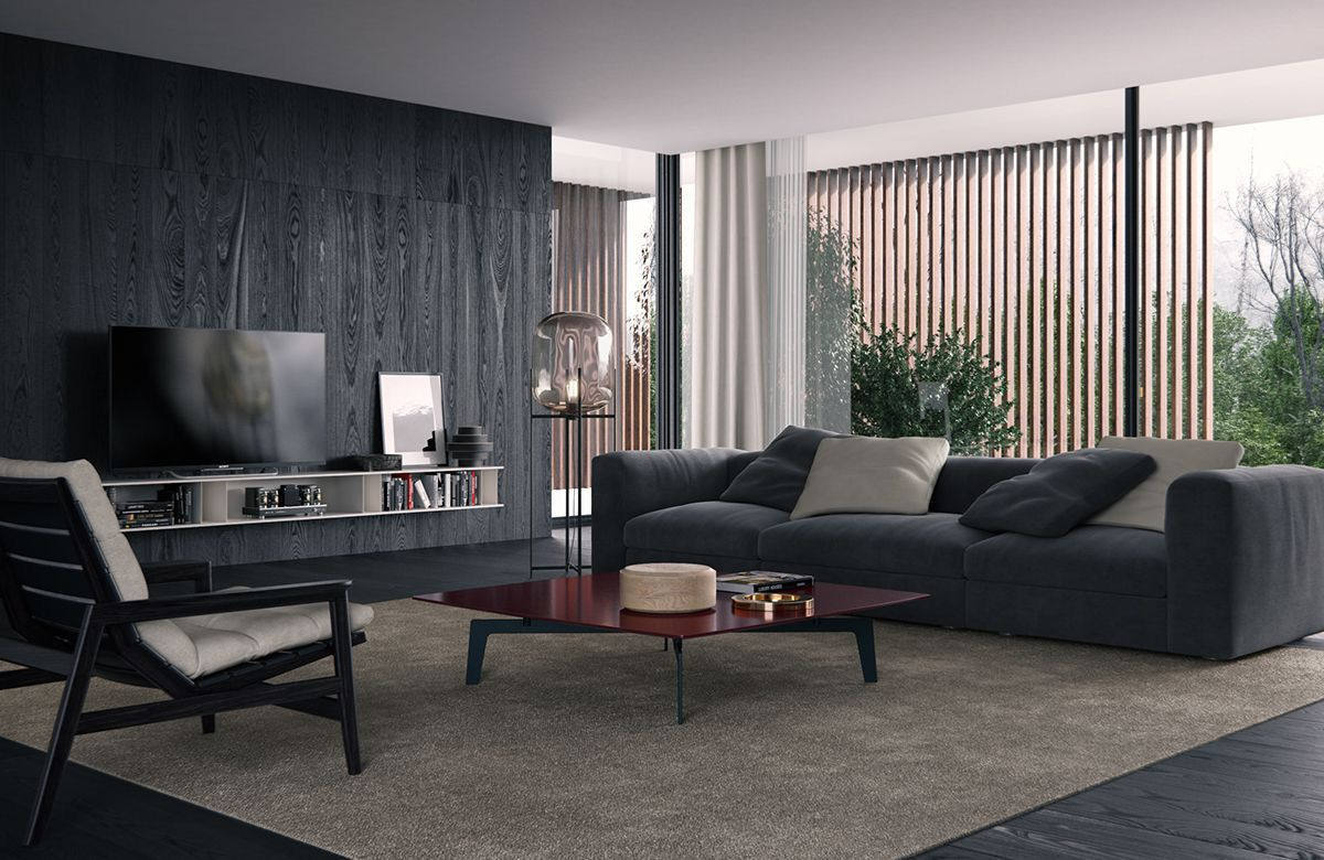 Modern Living Room Small Space: Poliform Living Room On Behance