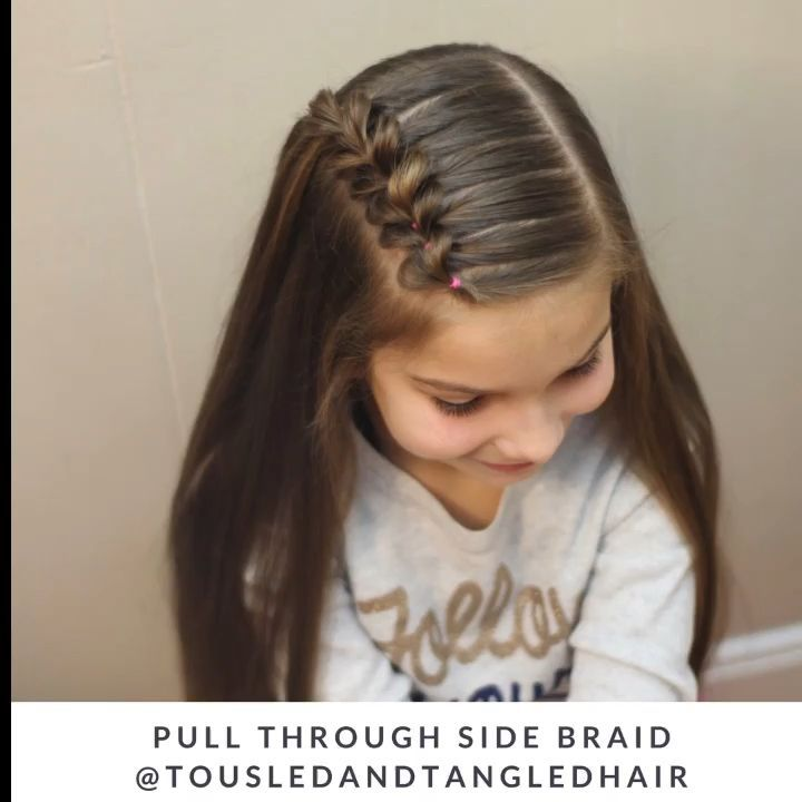 Pull Through Side Braid -  Hair tutorial  - #braid #Pull #Side #through