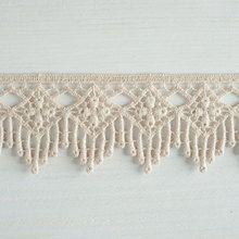 #Organic #lace trim 45 mm wide natural ecru #cotton colour undyed, multi-drop diamond www.lancasterandcornish.co.uk #wedding #lingerie #bridal #wedding #lampshade #upcycle #gorgeous