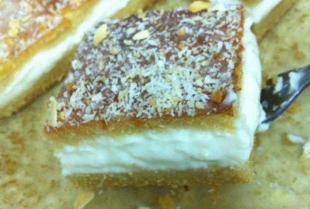 بسبوسة بالقشطة سنابل السلام Food Food And Drink Desserts