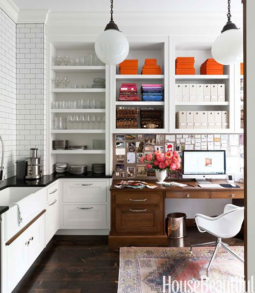 A Proper Boston Brownstone With Sparkle Kitchen Deskskitchen Officekitchen