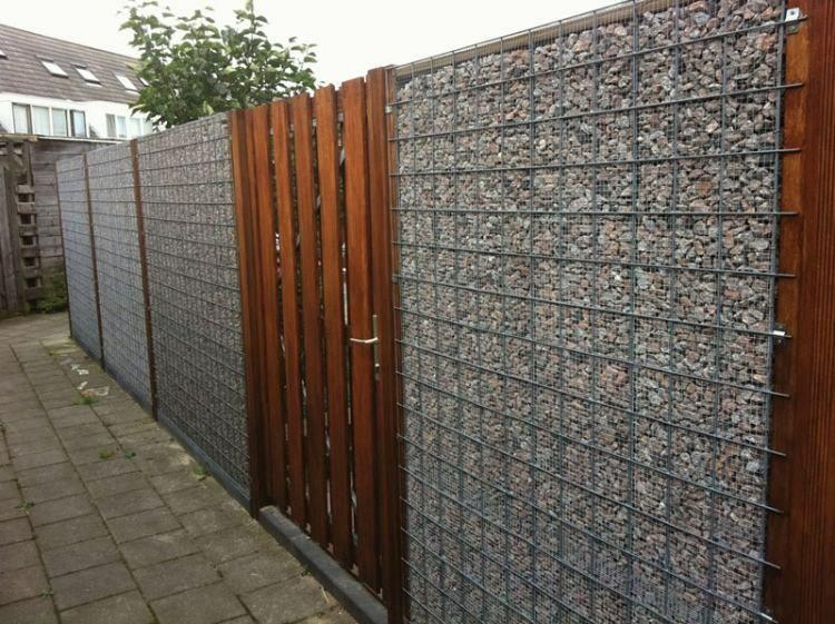 Gaviones y muros de alambre y piedras - 63 diseños - Gabion fence