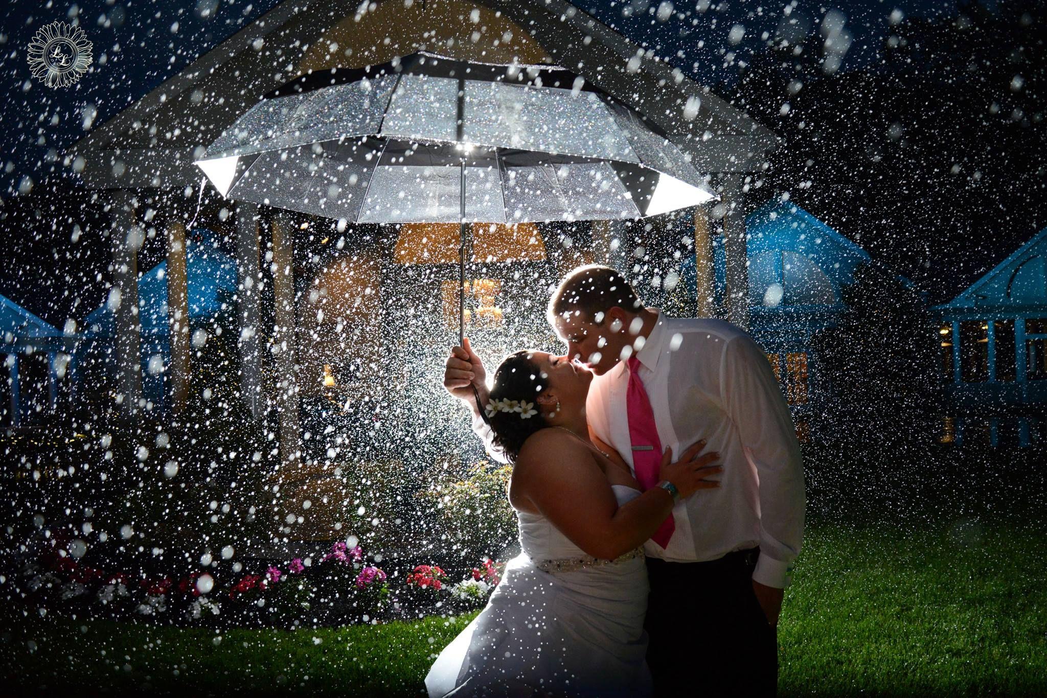 Connecticut wedding in the rain