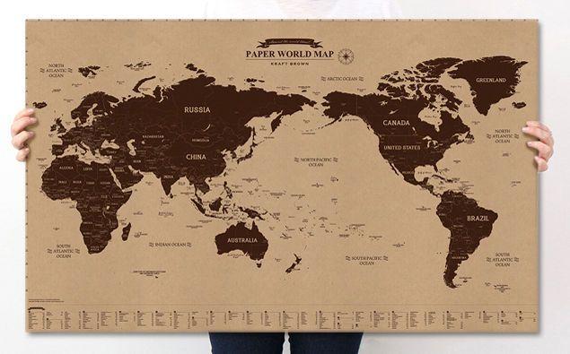 News kraft world map poster vintage wall chart paper decor flags news kraft world map poster vintage wall chart paper decor flags geography 91x55cm kraft world map gumiabroncs Images