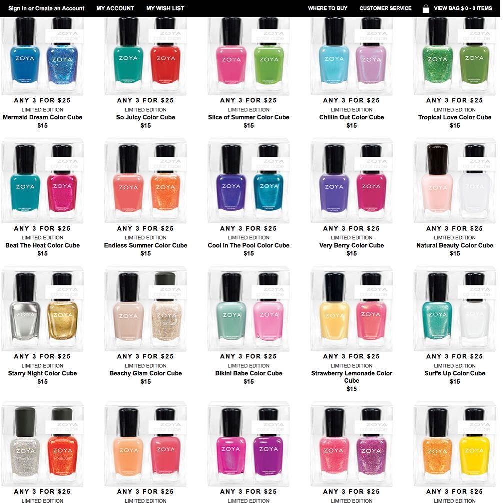 Introducing ZOYA Color Cube Duos Pick any 3 Sets for $25 + Free Ship Or $15 ea Code: CUBES