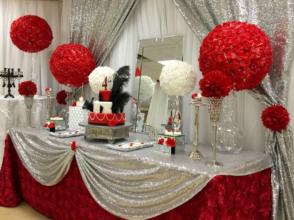 Red Roses Birthday Party Ideas