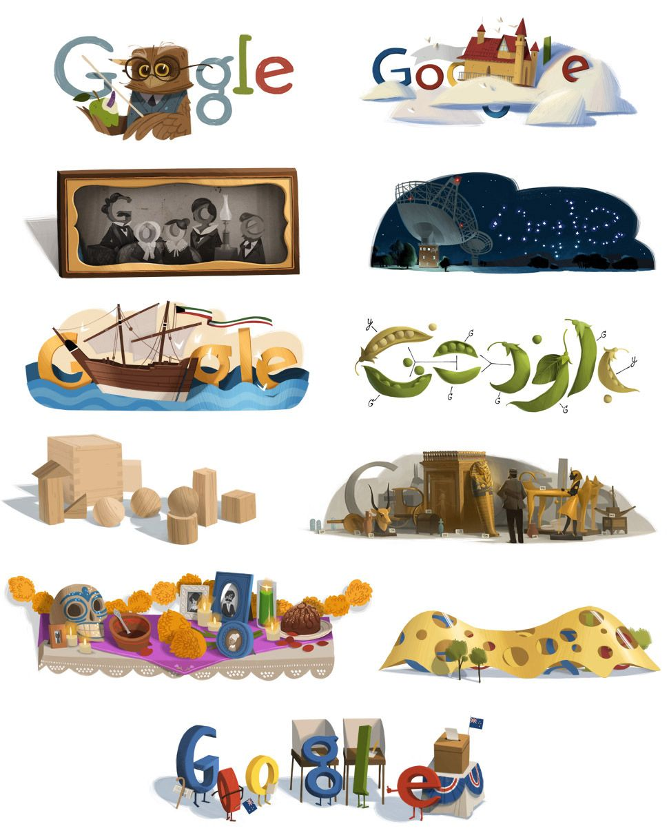 Doodle For Google: Google Doodles By Willie Real - What An ART