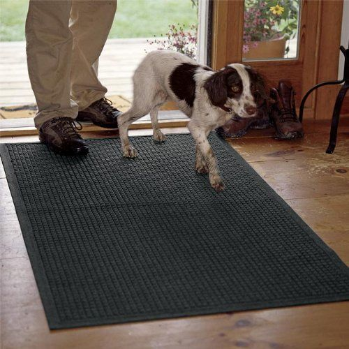 """Water Trapper Grid Mats / Only 45.5"""" X 60"""", Charcoal, by Orvis. $139.00. Our thirsty polypropylene mats are designed to keep your floors clean throughout the worst that any season can dish out. Side channels allow water to drain quickly, thick fibers scrape off mud and snow, while thin fibers remove moisture from the soles of boots and shoes. Strong rubber backing gives traction on all floor surfaces. The mats are easy-care; just hose off to clean. Polypropylene. Made in USA."""