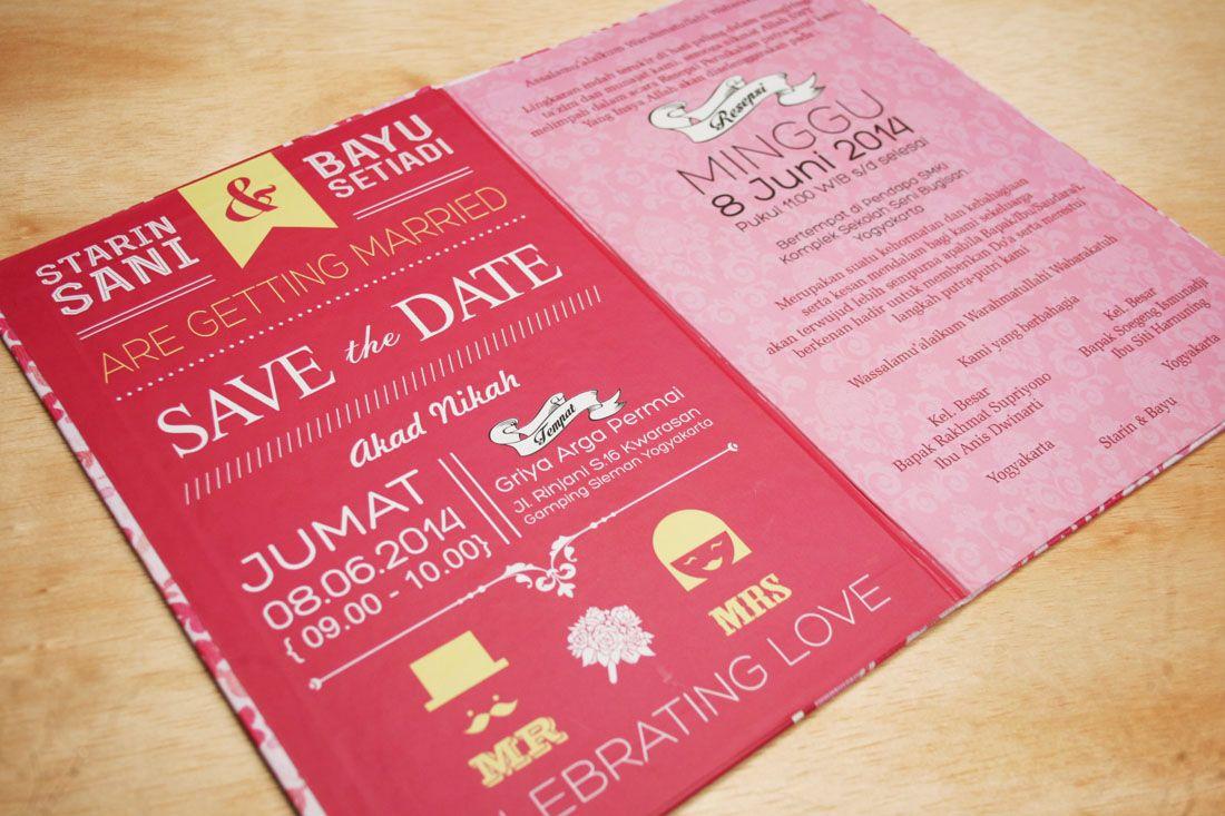 62 Contoh Desain Undangan Pernikahan Unik Wedding Pinterest