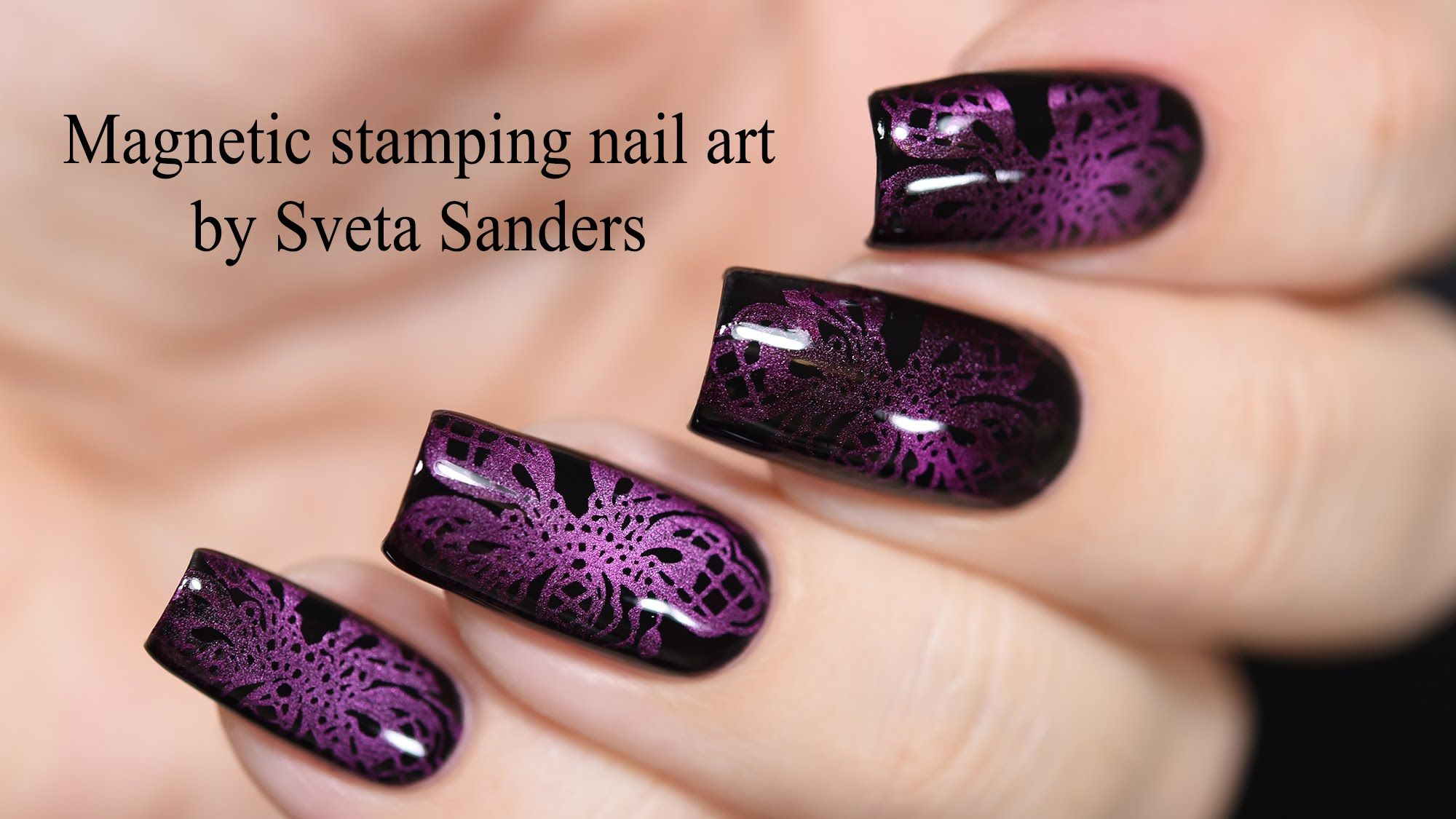Magnetic Stamping Nail Art Tutorial | Nail art | Pinterest ...