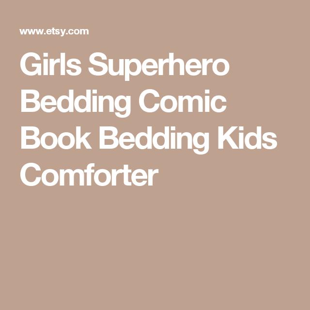 girls superhero bedding comic book bedding kids comforter