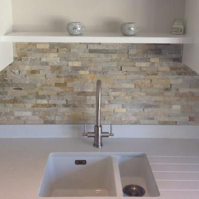 Split Face Mosaic Kitchen Tiles