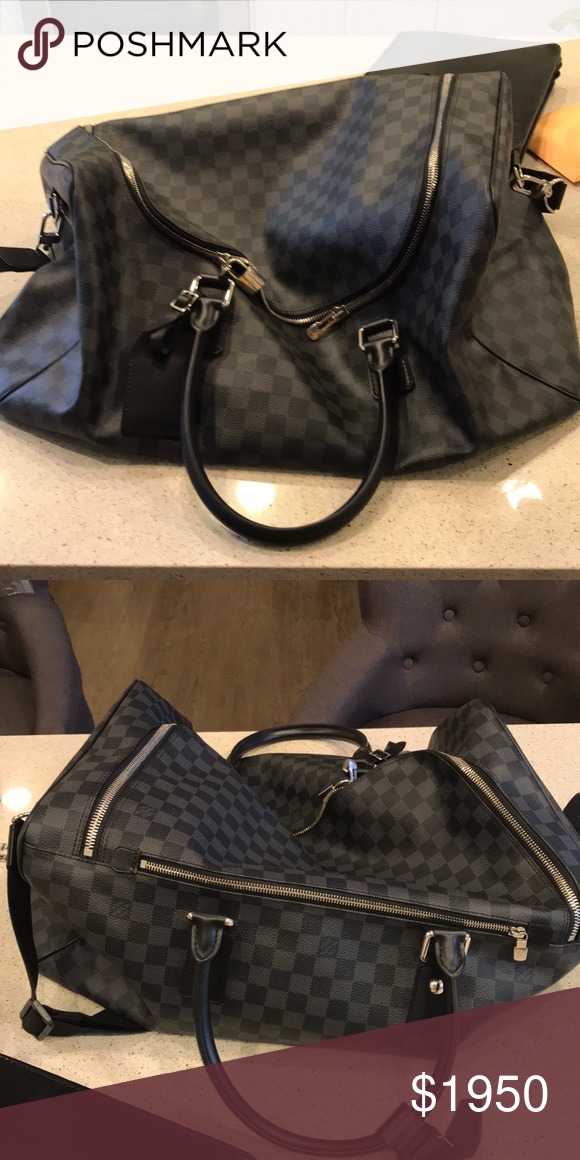 0af9f7df56f8 Brand New Louis Vuitton Roadster Duffle Bag Black Black Duffle Bag Louis  Vuitton Bags Duffel Bags