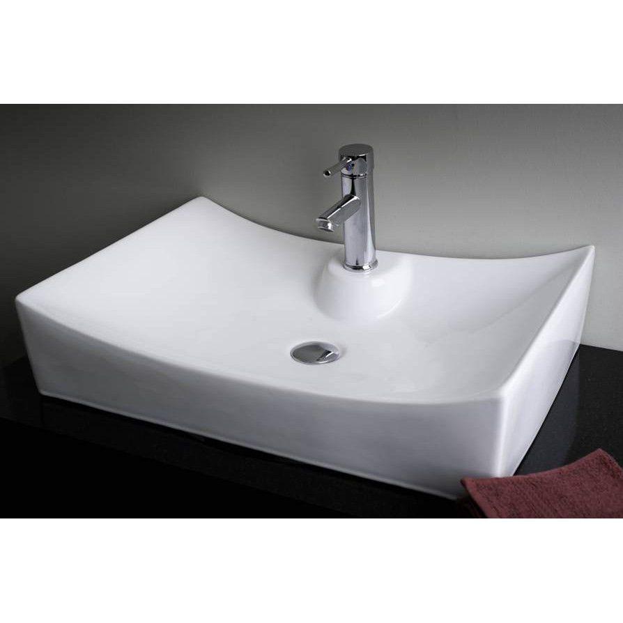IMG Bath IMG-226 Modern Above Counter Rectangular White ...