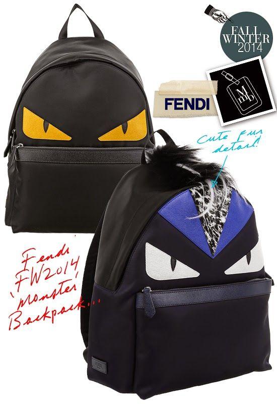 5ee4e1c1781 myMANybags  Fendi Fall Winter 2014 Bag Bugs  Monster Eyes  Backpack ...