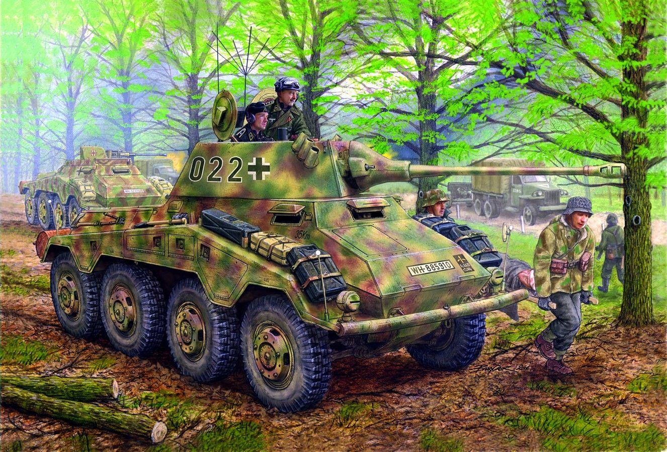 SdKfz 234/2 Puma - 20 Aufklärungs Abteilung, 20 Panzer-Division Bohemia 1945 - Dragon