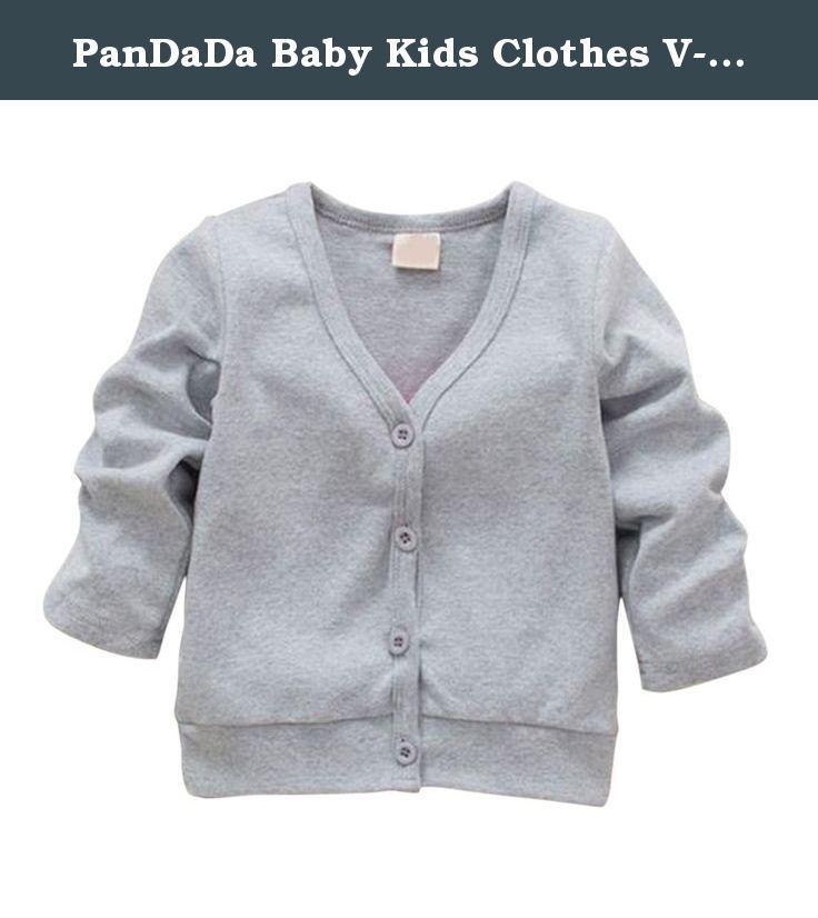 Pandada Baby Kids Clothes V Neck Cardigan Knitwear Tops Jacket