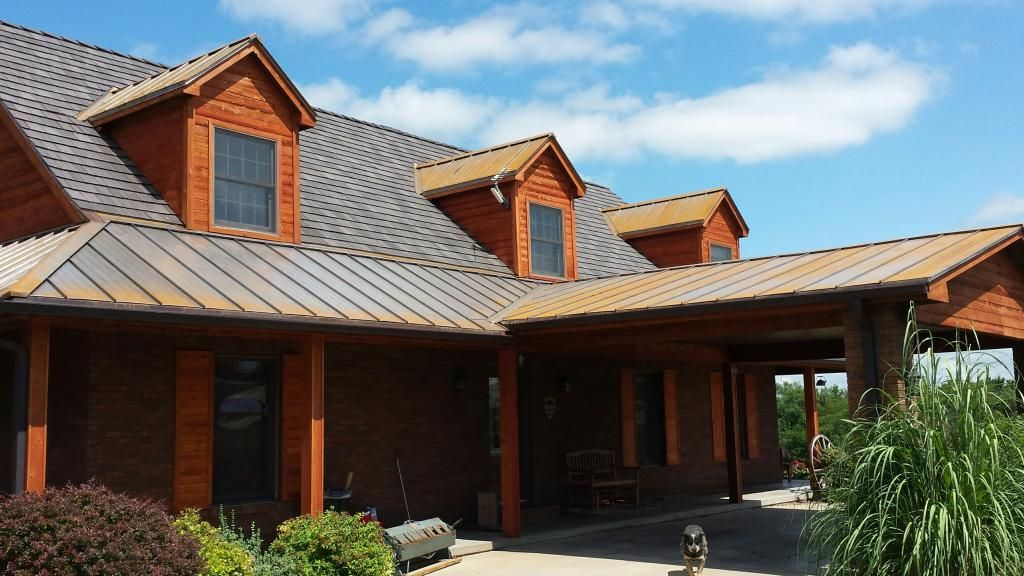 Best Polymer Roofing Caps Off Mixed Texture Home Shake Roof 640 x 480