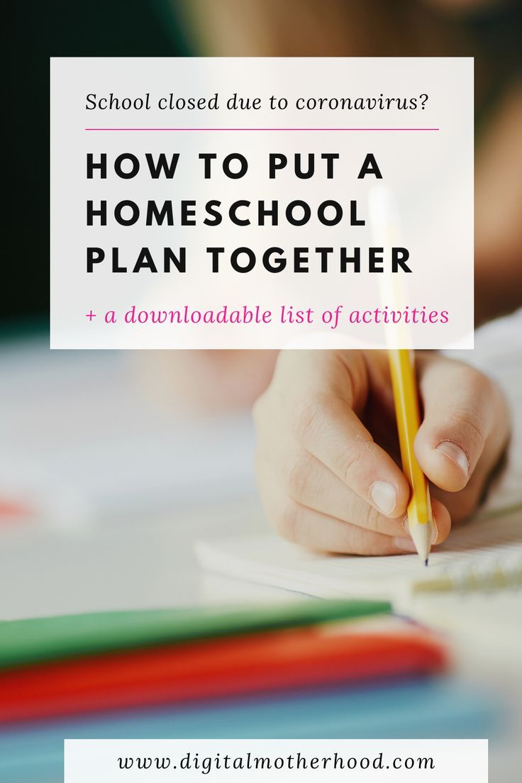 How to put a short term homeschool plan together in 2020