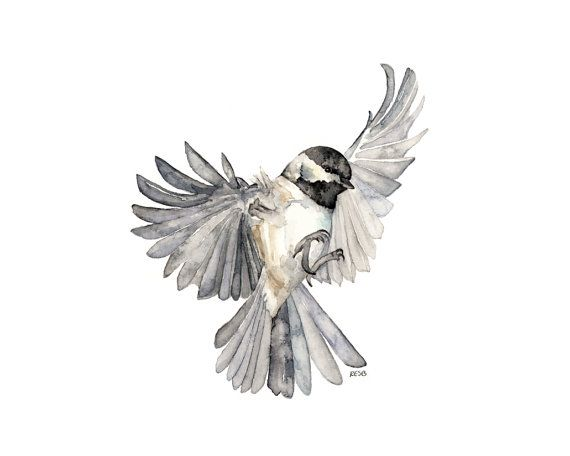 Bird In Flight Painting Print From Original Watercolor Painting