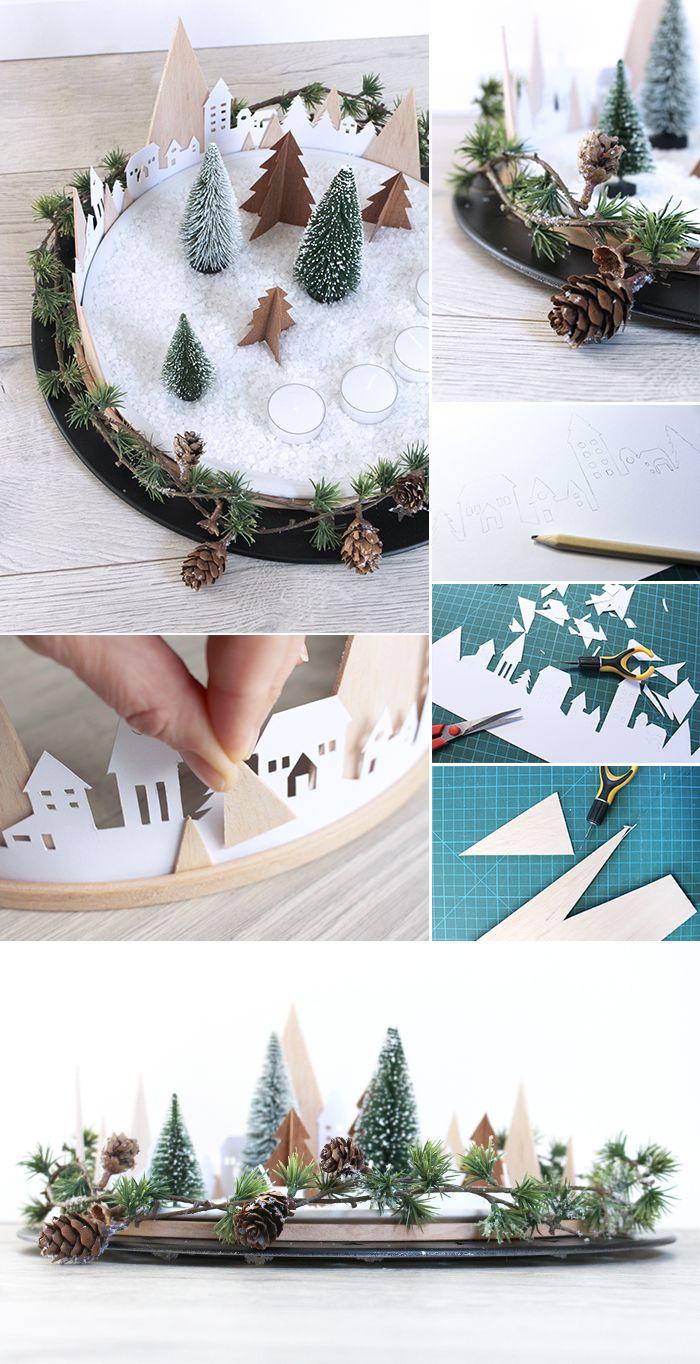 do it yourself kreativer adventskranz aus papier. Black Bedroom Furniture Sets. Home Design Ideas