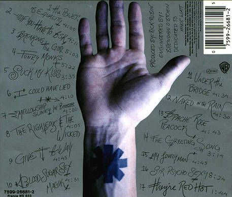 Red Hot Chili Peppers Under The Bridge Single Metromix Chicago Red Hot Chili Peppers Tattoo Red Hot Chili Peppers John Frusciante