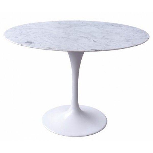 Tulip Dining Table Round Marble 120cm Eero Saarinen Replica