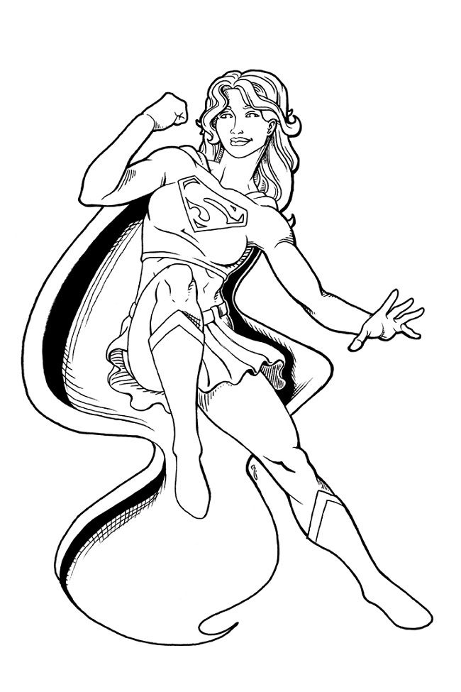 Supergirl Coloring Pages For Kids Superhero Coloring Superhero