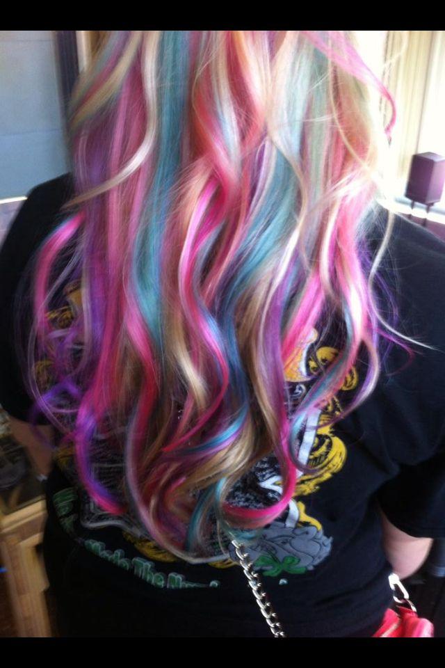 Pastel Hair Pink Purple And Blue On Bleach Blonde Hair Love My Hair Cotton Candy Hair Pastel Hair Cotton Candy Hair Candy Hair