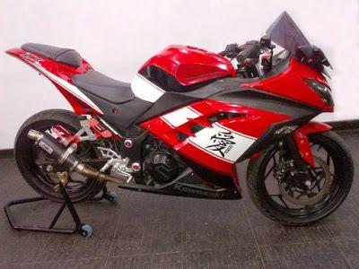 Motor Ninja 4 Tak Warna Merah Kawasaki Ninja Motor Kawasaki