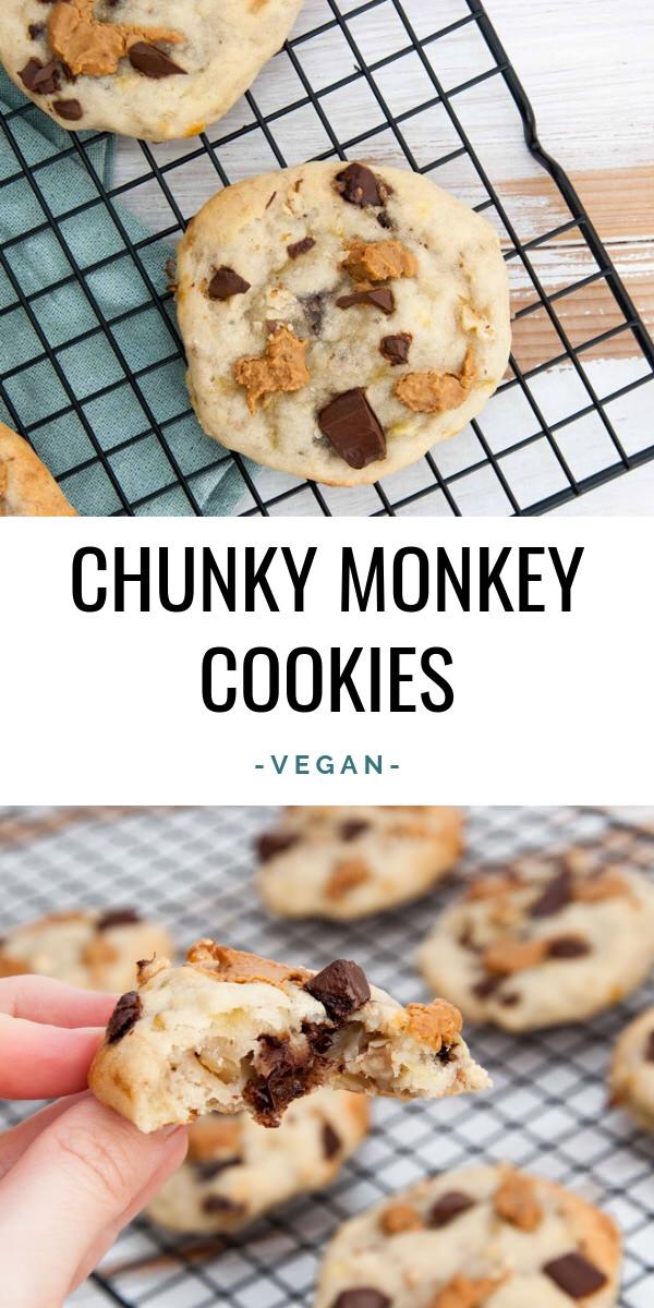 Chunky Monkey Cookies Vegan OilFree SugarFree
