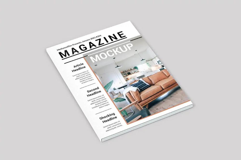 30 Best Magazine Mockups For 2020 Mediamodifier Brochure Cover Magazine Mockup Magazine Mockup Free
