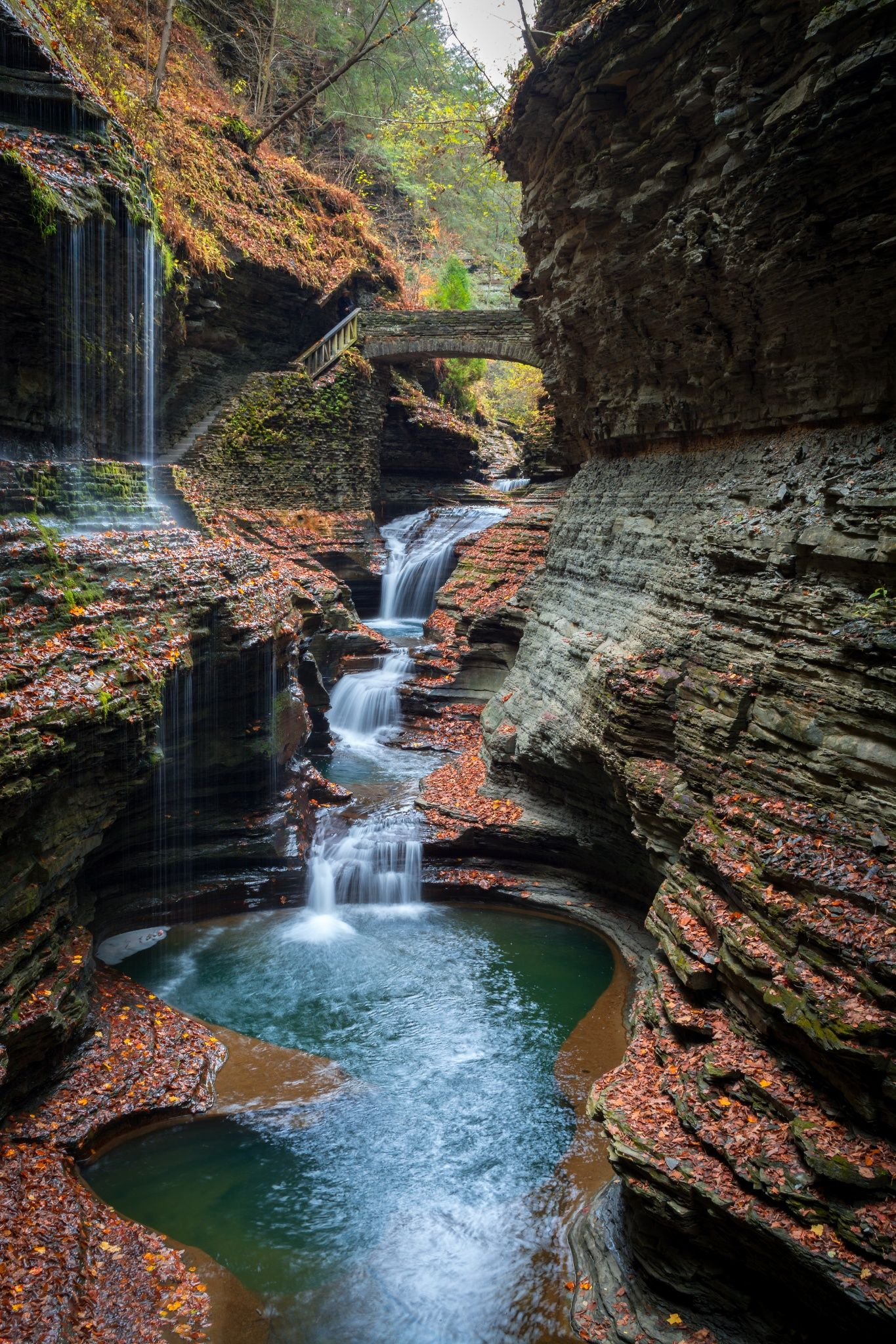 Taken during an awesome hike with my brother through the gorge at Watkins Glen, this photo of Rainbow Falls is one of my favorite shots I've ever made.