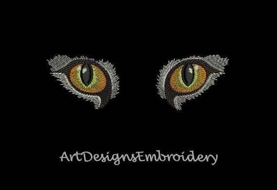 Cat Eyes Machine Embroidery Design Embroidery Cat Eyes Machine