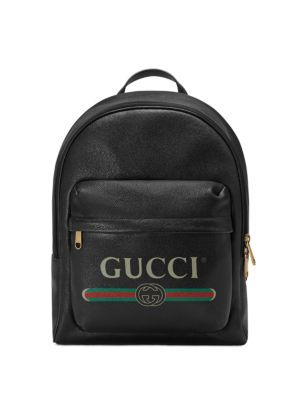 fb2b7ff22d7 GUCCI Gucci Print Leather Backpack.  gucci  bags  leather  lining  backpacks   linen  cotton