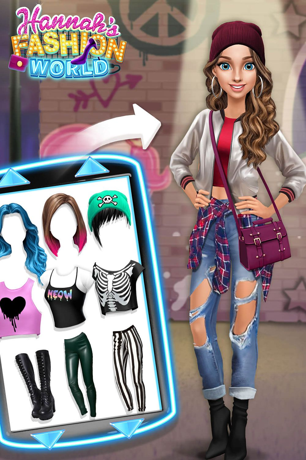 Ripped Jeans Silver Bomber Jacket Fun Games For Girls Silver Bomber Jacket Makeup And Hair Salon