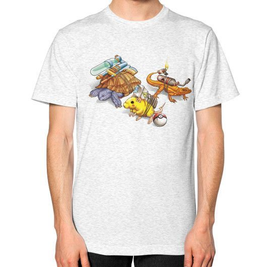 Real Pocket Monsters Unisex T-Shirt (on man)
