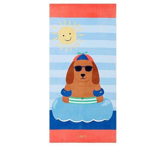 Dog Kid Beach Towel Kids Beach Towels Beach Towel