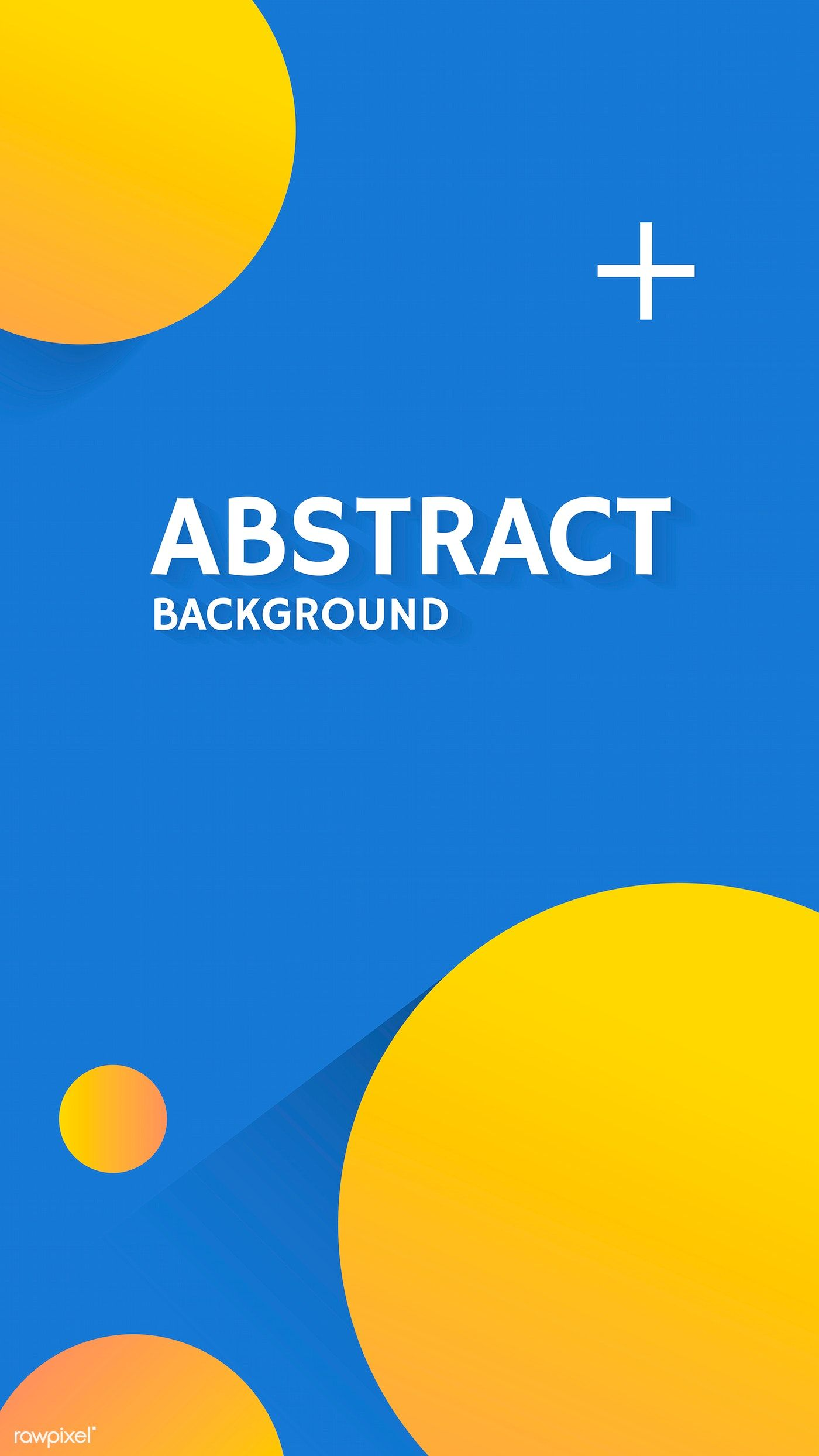 Round Yellow And Blue Abstract Background Vector Free Image By