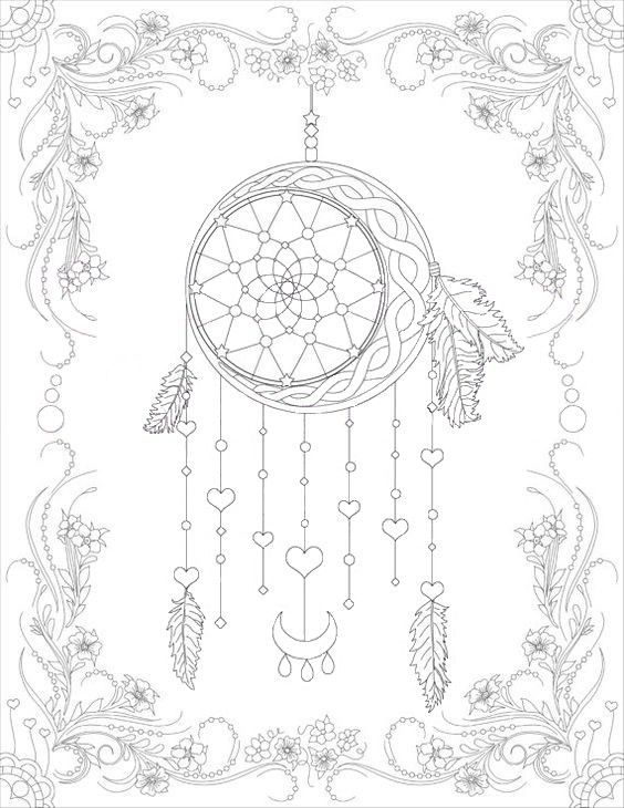 Pin By Jessica Luna On Book Dream Catcher Coloring Pages