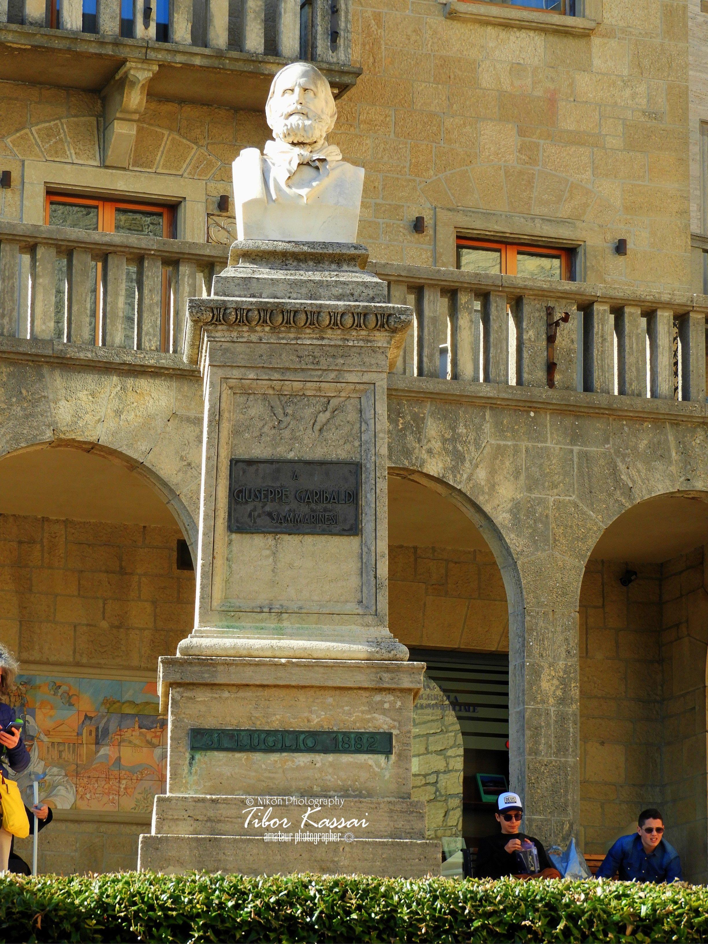 Statue Giuseppe Garibaldi In San Marino City Republic Of San Marino Nikon Coolpixb700 22 4mm 1 20 Republic Of San Marino Hdr Photography Giuseppe Garibaldi