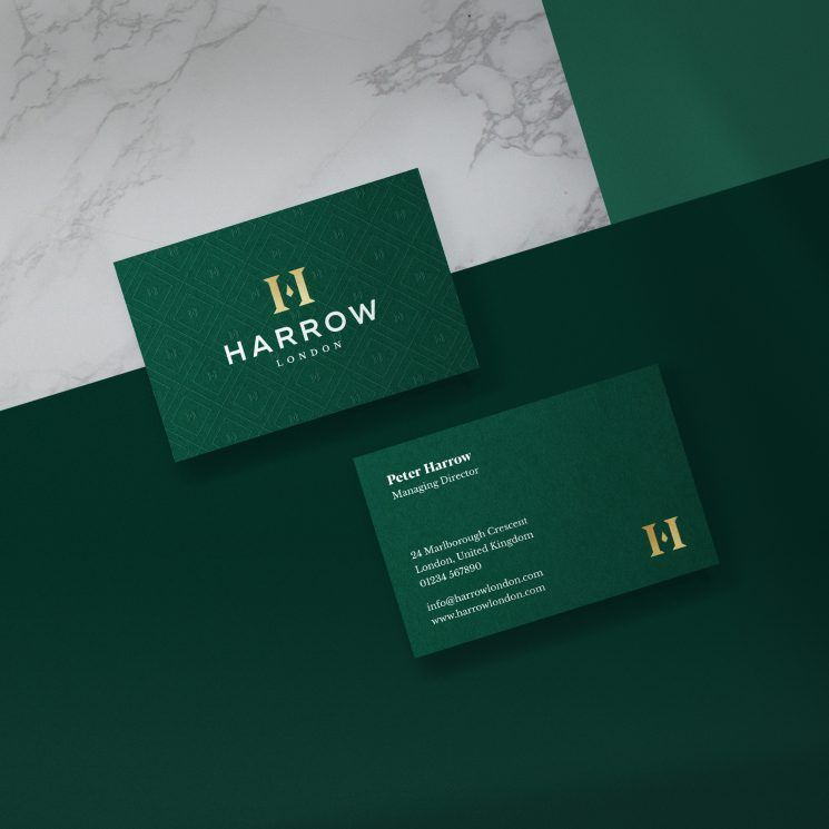 Harrow Menswear Business Card Business Card Design Inspiration Fashion Business Cards Business Card Design Business Card Design Inspiration