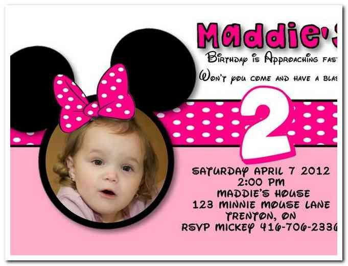 Download Now FREE Template Minnie Mouse Birthday Invitations Templates