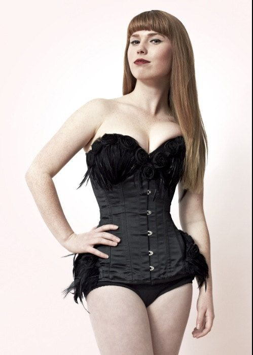 c38d2a43874c Black Swan black satin feather burlesque by BoomBoomBabyBoutique