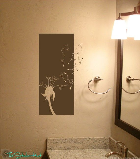 Blowing Dandelion Half Panel Wall Art Graphics by thestickerhut ...