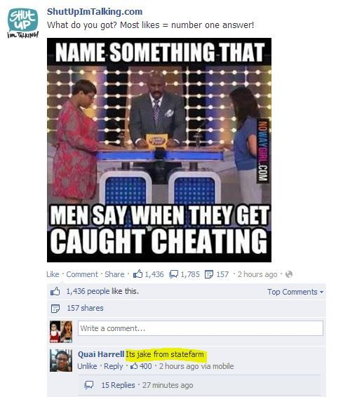Men get when what cheating they say caught 50 Things