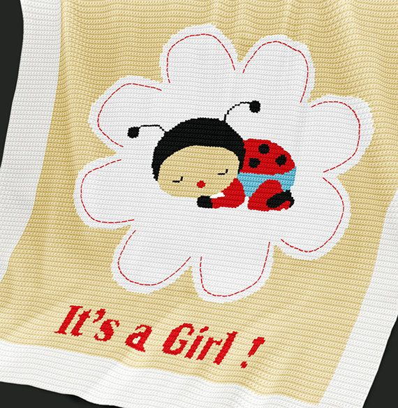 CROCHET Pattern Baby Blanket Pattern Ladybird by PatternWorldUK ...