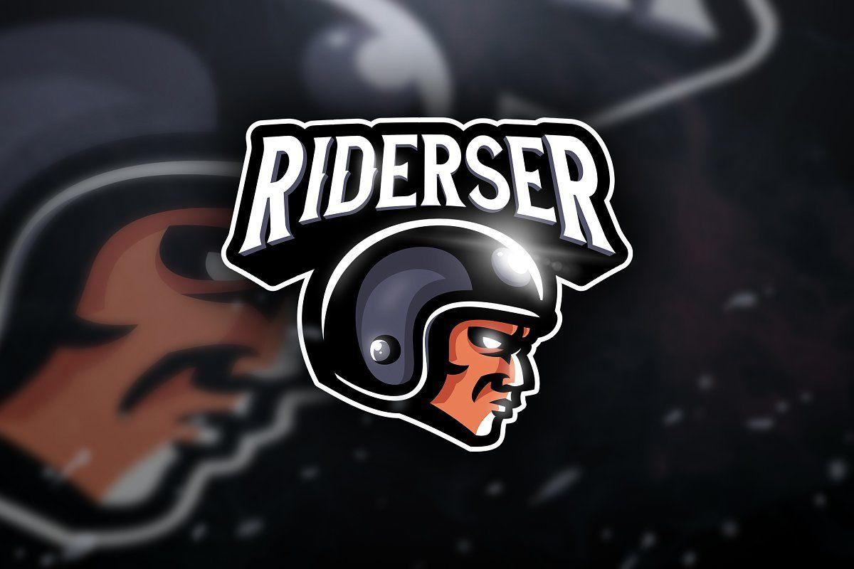 Riderser Mascot Sport Logo Game Logo Design Sports Logo Mascot