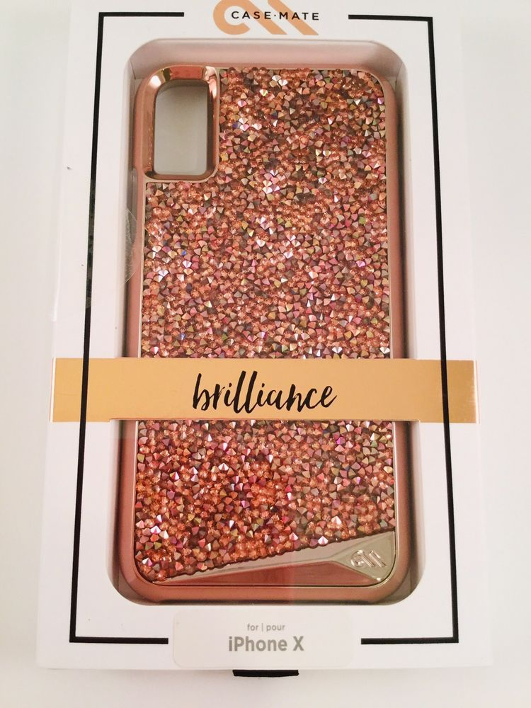 Case Mate Brilliance Crystals Case Rose Gold Iphone X And Iphone Xs New Ebay Rose Gold Iphone Iphone Gold Iphone
