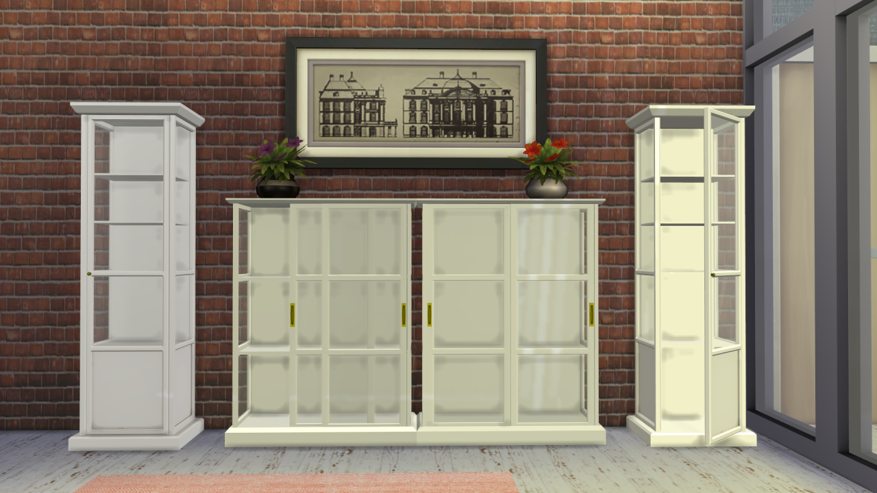 Ikea Malsj Tall Cabinet With Glass Door Sims 4 Cc